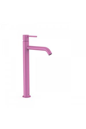 Высокий однорычажный смеситель для умывальника Tres Study exclusive 26230801TFU, Пурпурно-красный, стандартный