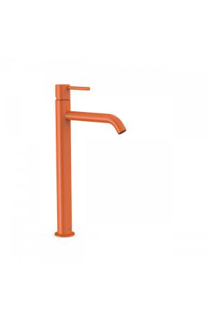 Высокий однорычажный смеситель для умывальника Tres Study exclusive 26230801TNA, Оранжевый, стандартный