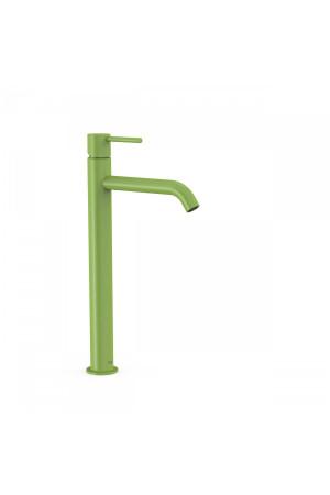 Высокий однорычажный смеситель для умывальника Tres Study exclusive 26230801TVE, Зеленый, стандартный