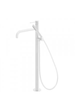 Напольный однорычажный смеситель для ванны Tres Study exclusive 26247001BM, Белый матовый, напольный