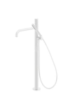 Напольный однорычажный смеситель для ванны Tres Study exclusive 26247002BM, Белый матовый, напольный