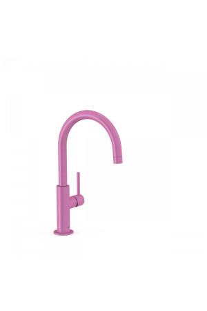 Высокий однорычажный смеситель для умывальника Tres Study exclusive 26290402TFU, Пурпурно-красный, стандартный