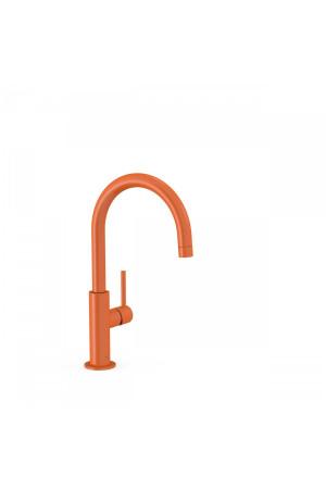 Высокий однорычажный смеситель для умывальника Tres Study exclusive 26290402TNA, Оранжевый, стандартный