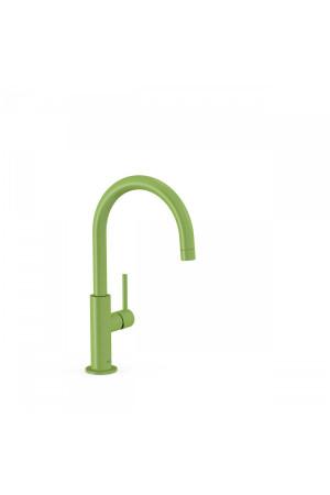 Высокий однорычажный смеситель для умывальника Tres Study exclusive 26290402TVE, Зеленый, стандартный