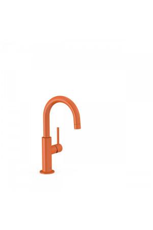 Однорычажный смеситель для умывальника Tres Study exclusive 26290403TNA, Оранжевый, стандартный