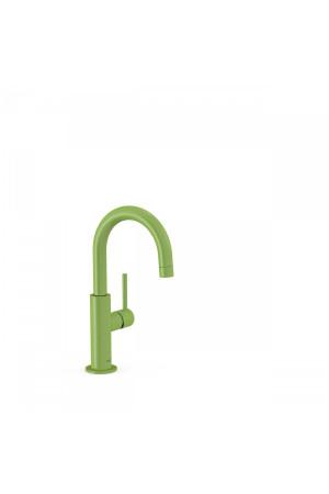 Однорычажный смеситель для умывальника Tres Study exclusive 26290403TVE, Зеленый, стандартный