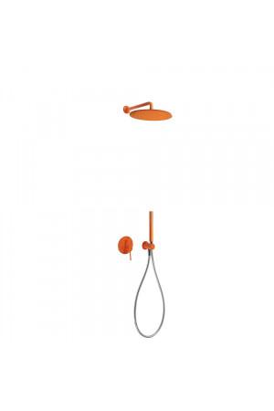 Душевая система с встроенным смесителем Tres Study exclusive 26298091TNA, Оранжевый, скрытый