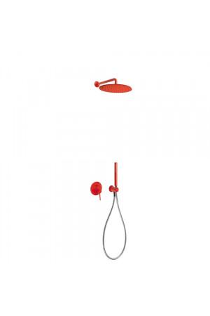 Душевая система с встроенным смесителем Tres Study exclusive 26298091TRO, Красный, скрытый