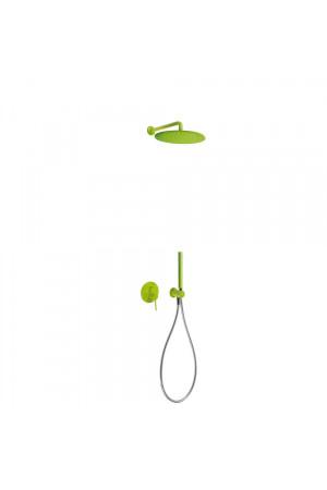 Душевая система с встроенным смесителем Tres Study exclusive 26298091TVE, Зеленый, скрытый