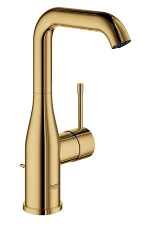 Смеситель для раковины L-Size Grohe Essence 32628GL1, Золото, Смесители - стандартный