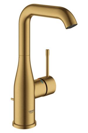 Смеситель для раковины L-Size Grohe Essence 32628GN1, Золото матовое, Смесители - стандартный
