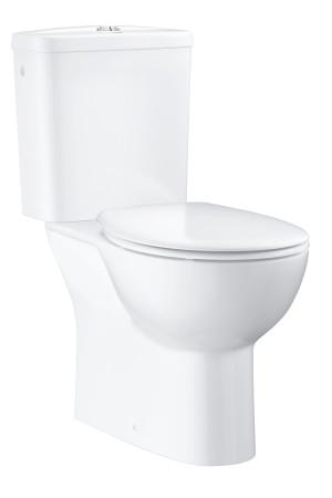 Унитаз напольный, готовй комплект GROHE Bau Ceramic 39346000, Белый, Фарфор