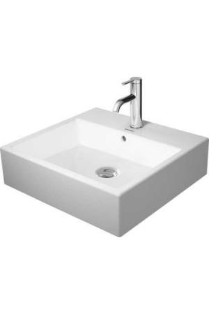 Duravit Vero Air Умывальник шлифованный 500 мм 235050, Белый, Керамика - на мебели, Керамика - накладной, Керамика - подвесной, Керамика
