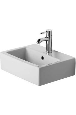 Duravit Vero Умывальник для рук шлифованный 450 мм 070445, Белый, Керамика - на мебели, Керамика - накладной, Керамика - подвесной, Фарфор