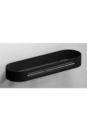 Полка для ванной 315 мм, черная матовая, Sonia S5 176502, Черный матовый, настенный, Нержавейка