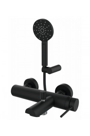 Однорычажный черный смеситель для ванны и душа TIME GRB 47225472
