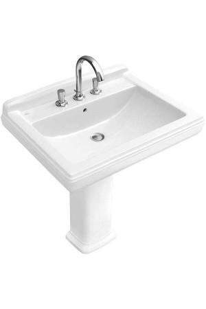 Раковина 750 x 580, ярко-белая, Villeroy & Boch Hommage 710175R2, Белоснежный с покрытием, Керамика - подвесной, Фарфор