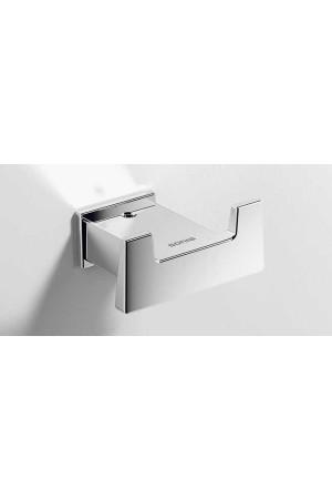 Двойной крючок для ванной, хром, Sonia S-Cube 166817, Хром, настенный, Латунь