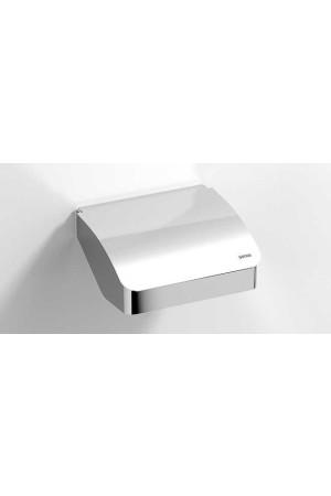 Держатель туалетной бумаги с крышкой, хром, Sonia S-Cube 166862, Хром, настенный, Латунь