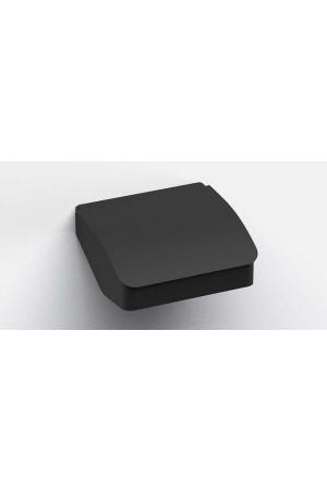 Держатель туалетной бумаги с крышкой, черный матовый, Sonia S-Cube 173020, Черный матовый, настенный, Латунь
