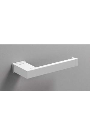 Держатель туалетной бумаги открытый, белый матовый, Sonia S-Cube 176366, Белый матовый, настенный, Латунь