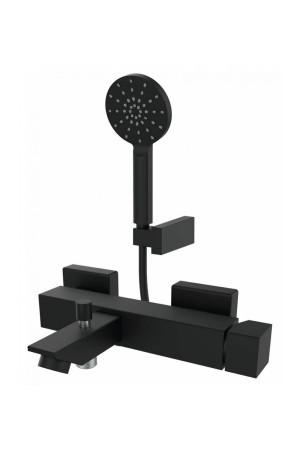 Смеситель на ванну черный с гарнитурой KALA GRB 60225601