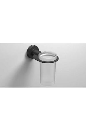 Стаканчик для зубных щеток подвесной, черный матовый, Sonia Tecno Project 166237, Черный матовый, настенный, Латунь