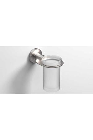 Стаканчик для зубных щеток подвесной, никель, Sonia Tecno Project 119547, Никель матовый, настенный, Латунь
