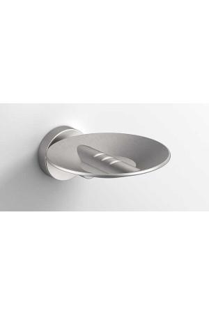 Подвесная мыльница, шлифованный никель, Sonia Tecno Project 119448, Никель матовый, настенный, Латунь