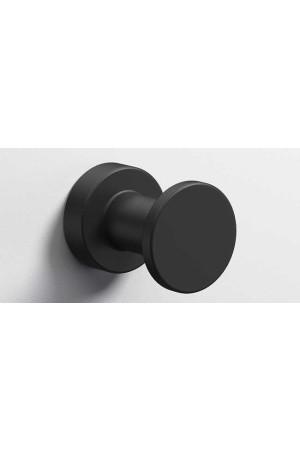 Крючок в ванную комнату Ø35, черный матовый, Sonia Tecno Project 170364, Черный матовый, настенный, Латунь