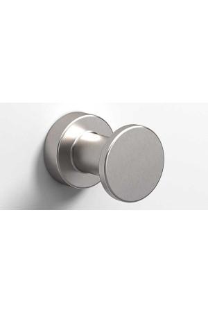 Крючок в ванную комнату Ø35, никель, Sonia Tecno Project 176977, Никель матовый, настенный, Латунь