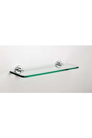 Стеклянная полочка в ванную 500 мм., хром, Sonia Tecno Project 116843, Хром, настенный, Латунь