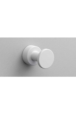 Крючок в ванную комнату Ø25, белый матовый, Sonia Tecno Project 166091, Белый матовый, настенный, Латунь