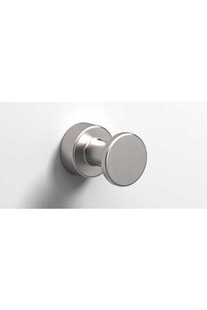 Крючок в ванную комнату Ø25, никель, Sonia Tecno Project 119486, Никель матовый, настенный, Латунь
