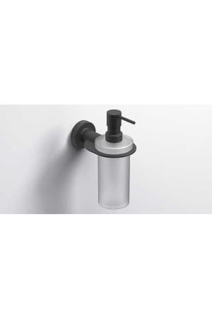 Подвесной дозатор жидкого мыла 195мл., черный матовый, Sonia Tecno Project 166244, Черный матовый, настенный, Латунь