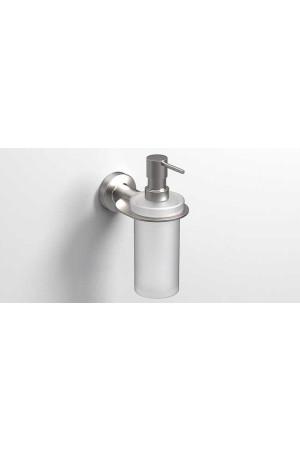 Подвесной дозатор жидкого мыла 195мл., никель, Sonia Tecno Project 119400, Никель матовый, настенный, Латунь