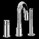 Смеситель для ванны на 3 отверстия Gessi GOCCIA 33637#031 Хром, Хром, Смесители - в борт ванны