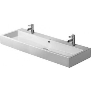Duravit Vero Умывальник для мебели 1200 мм 045412, Белый, Керамика - на мебели, Керамика - подвесной, Фарфор