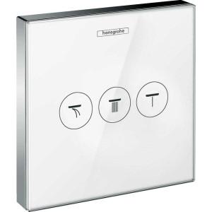 Запорный клапан на 3 потребителя, белый/хром, ShowerSelect 15736400, Хром/белый, скрытый