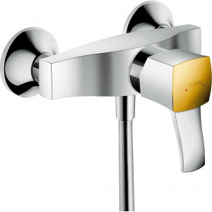 Смеситель для душа, хром/золото, Hansgrohe Metropol Classic 31360090, Хром/золото, настенный