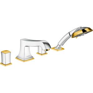 Смеситель на борт ванны, хром/золото, Hansgrohe Metropol Classic 31315090, Хром/золото, Смесители - в борт ванны
