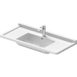 Duravit Starck 3 Умывальник для мебели 1050 мм 030410, Белый, Керамика - на мебели, Керамика - подвесной, Фарфор