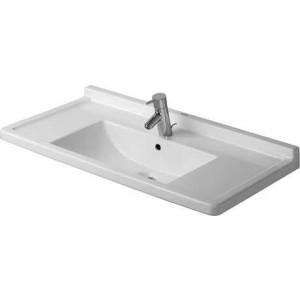 Duravit Starck 3 Умывальник для мебели 850 мм 030480, Белый, Керамика - на мебели, Керамика - подвесной, Фарфор