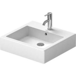 Duravit Vero Умывальник шлифованный 500 мм 045450, Белый, Керамика - на мебели, Керамика - накладной, Керамика - подвесной, Фарфор