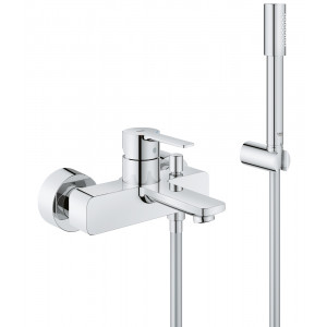 Смеситель однорычажный для ванны, Lineare 33850001, Хром, Смесители - настенный открытый