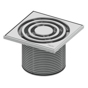 Декоративная решетка в пластиковой рамке с монтажным элементом TECE TECEdrainpoint S 3660003