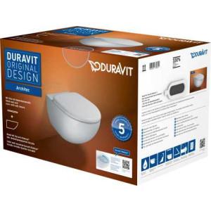 Унитаз подвесной Rimless® в комплекте, Duravit Architec 45720900A1, Белый, н,д,