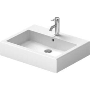 Duravit Vero Умывальник шлифованный 600 мм 045460, Белый, Керамика - на мебели, Керамика - накладной, Керамика - подвесной, Фарфор