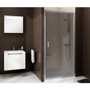Душевая дверь раздвижная Blix BLDP2-100 белый+грейп Ravak 0PVA0100ZG