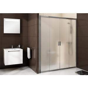 Душевая дверь раздвижная Blix BLDP4-170 белый+грейп Ravak 0YVV0100ZG